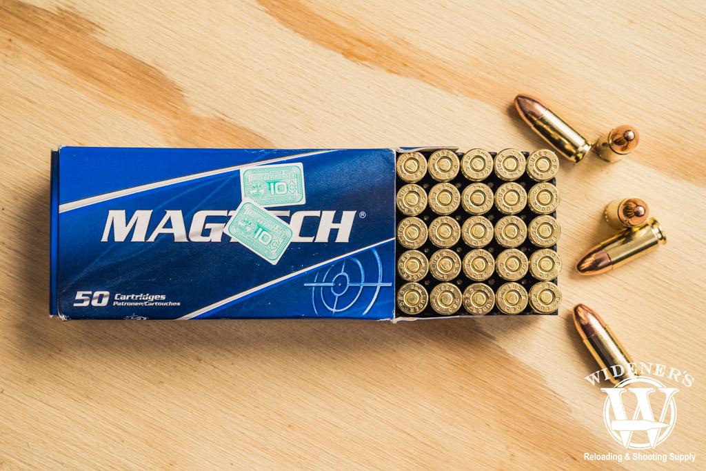 photo of magtech 9mm 115 fmc ammo
