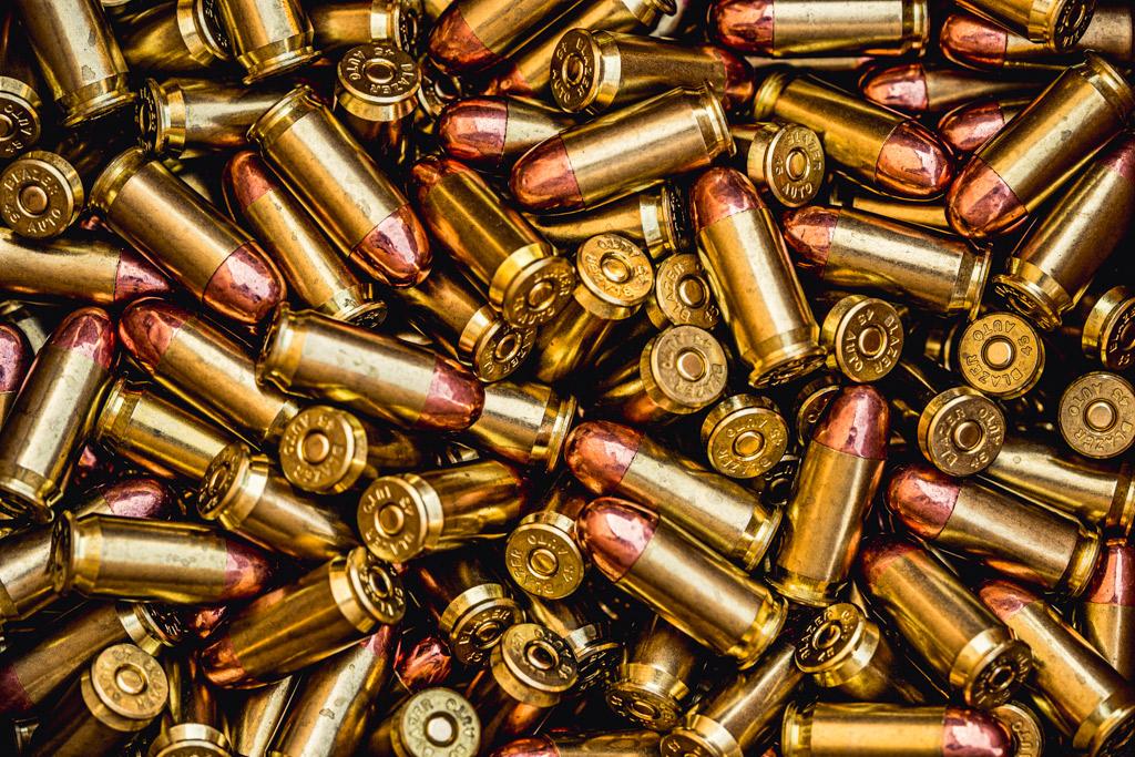 a photo of 45 acp fmj ammo