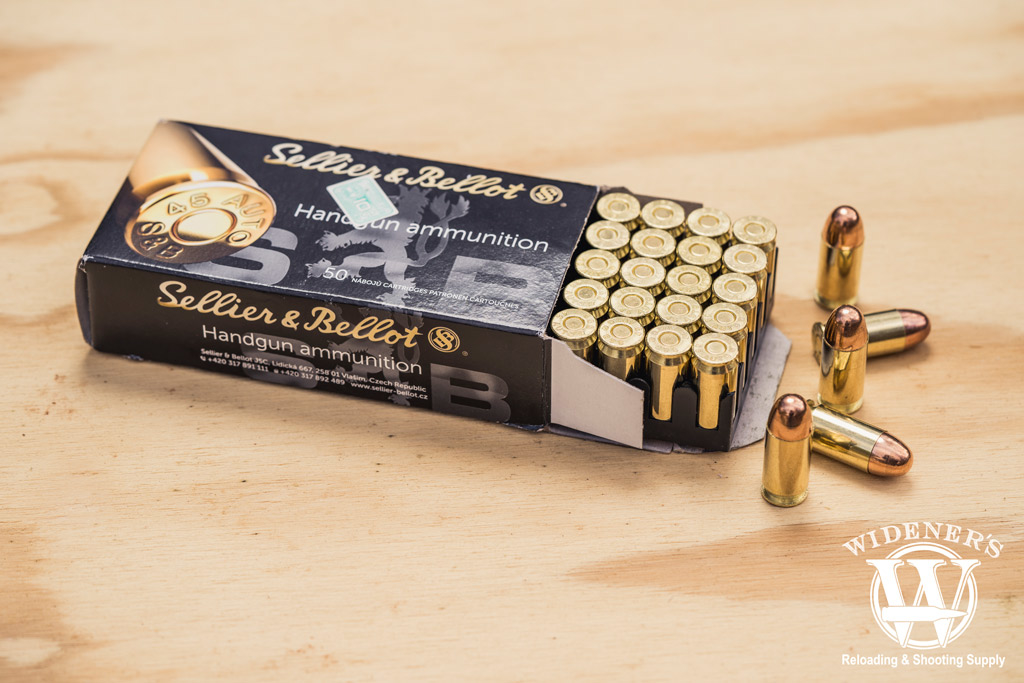 photo of sellier and bellot best 45 acp handgun ammo