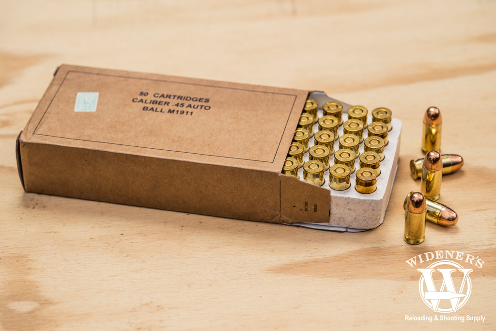 photo of winchester best 45 acp ammo ball cartridge