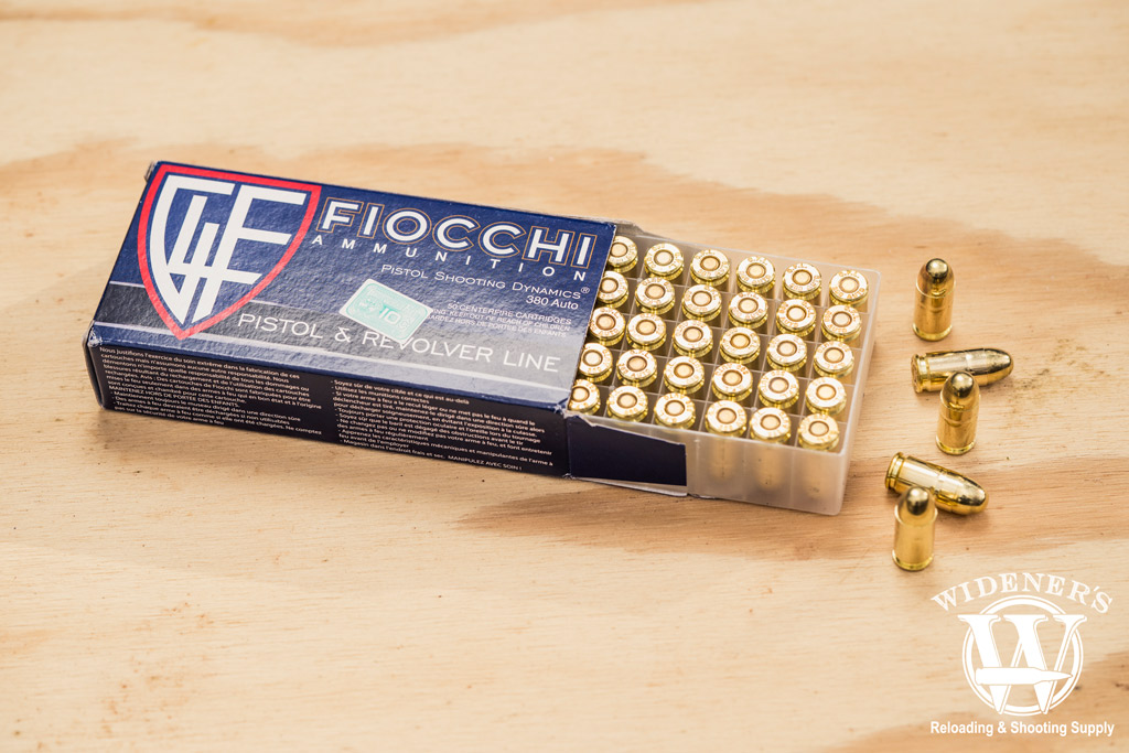 photo of fiocchi best 380 ammo on a sheet of plywood
