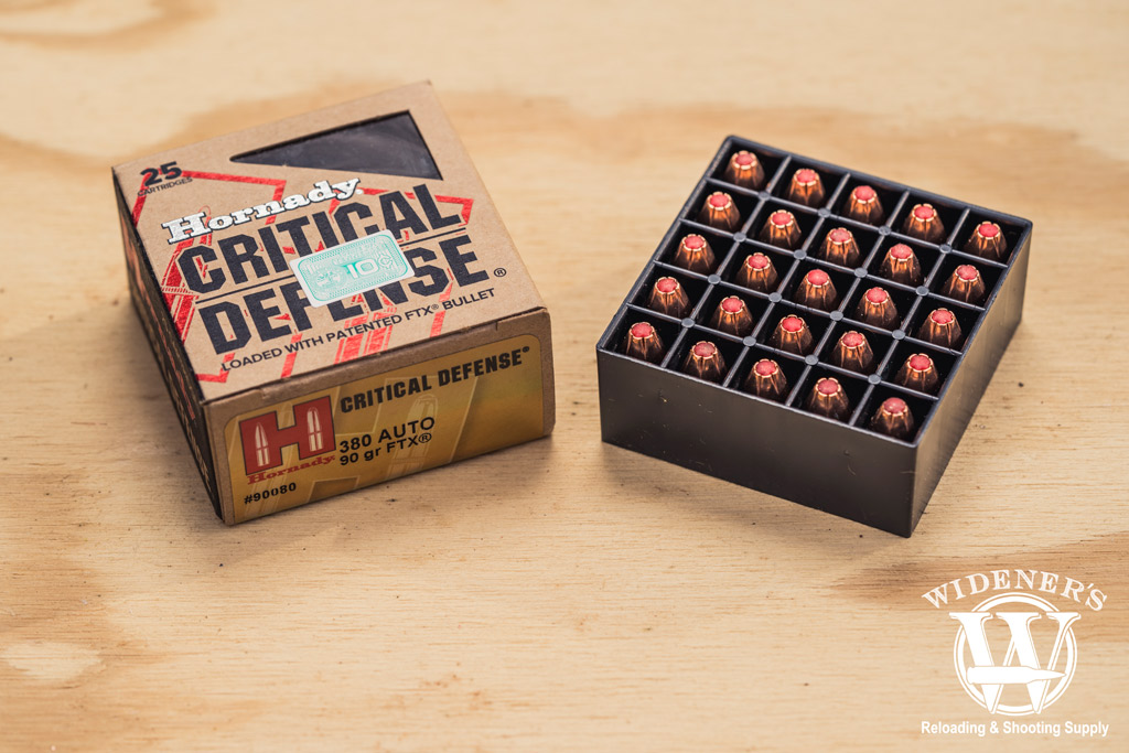 photo of hornady best 380 ammo critical defense FTX