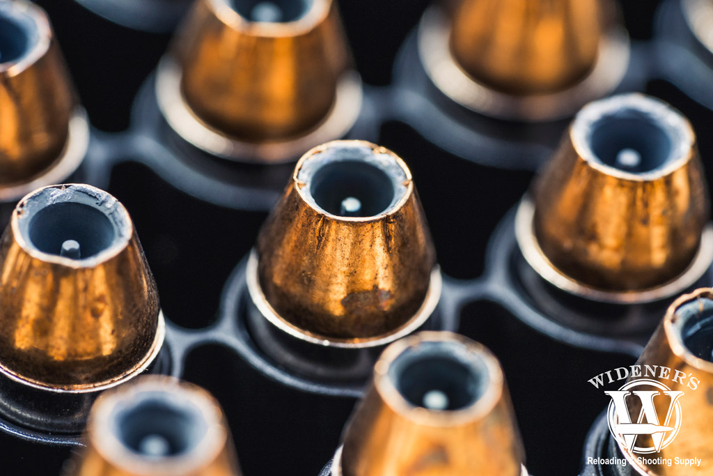 a macro photo of 380 jhp ammo