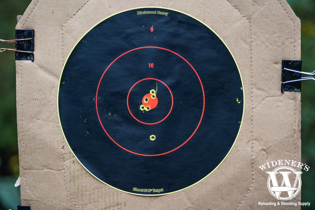 photo of a target shot by an ar15 rifle