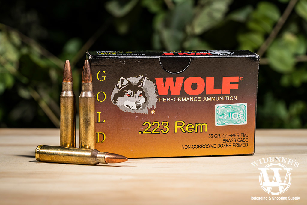 photo of wolf gold 223 rem ammo