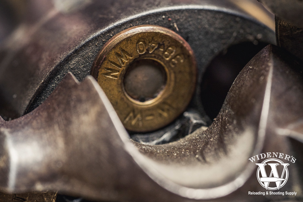 photo of a bullet in a colt navy pistol for cowboy action shooting