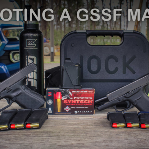 photo of glock pistols used for gssf shooting competitions