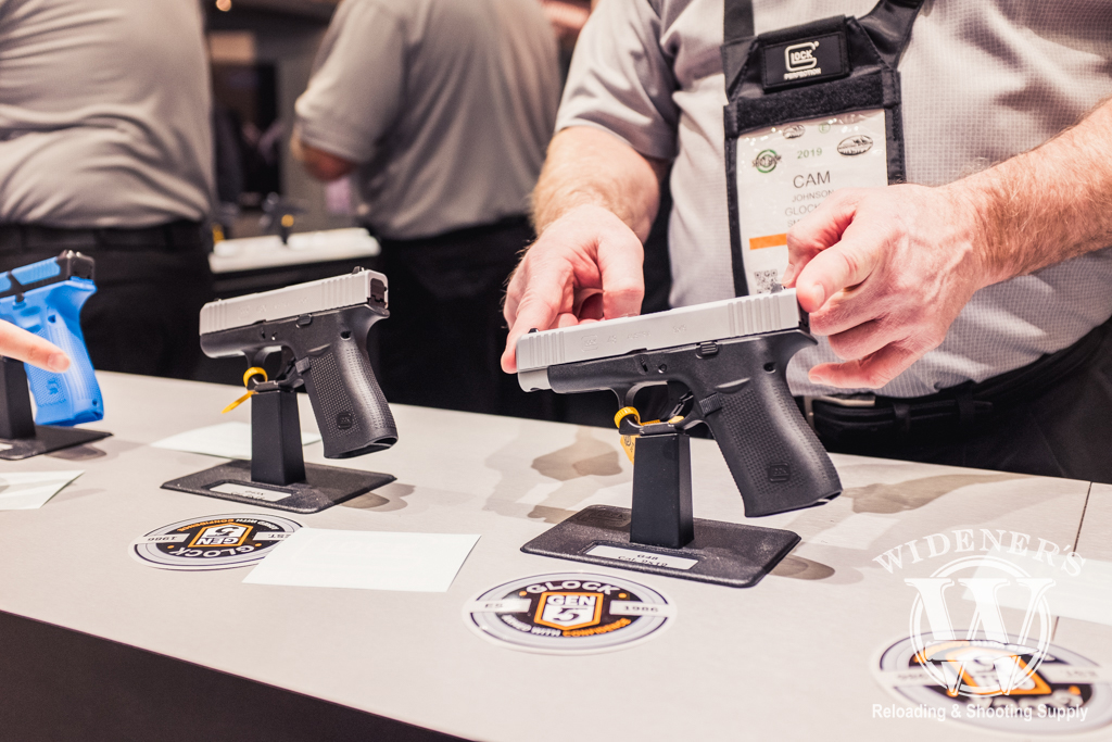 photo of the new glock g43X and g48 at shot show 2019
