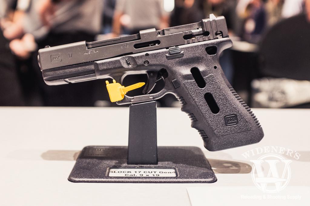 photo of shot show 2019 glock booth glock 17 pistol gen 4