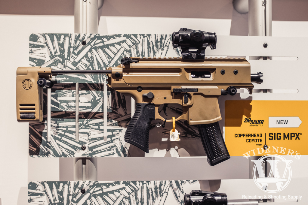 photo of the Sig MPX Copperhead Coyote chambered in 9mm