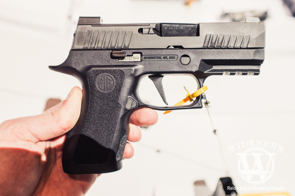 photo of the sig p320 x compact pistol at shot show 2019