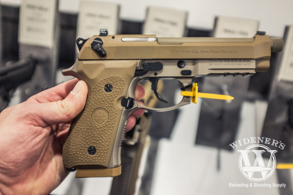photo of the BerettaM9A3 9mm in FDE at shot show 2019