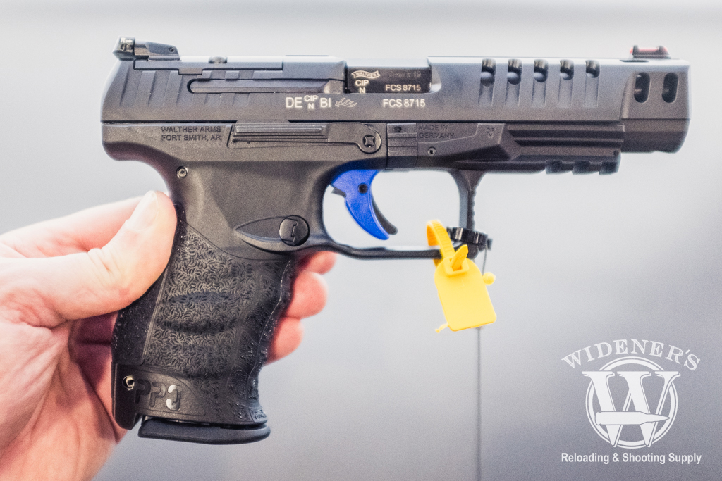 photo of steel frame Walther Q5 Match pistol at shot show 2019