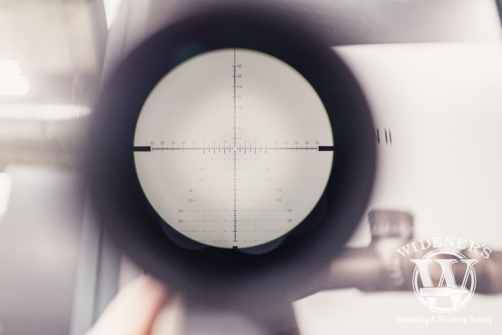 a photo of the reticle of the RAZORHD GEN II 4.5-27X56 RIFLESCOPE at SHOT Show 2019