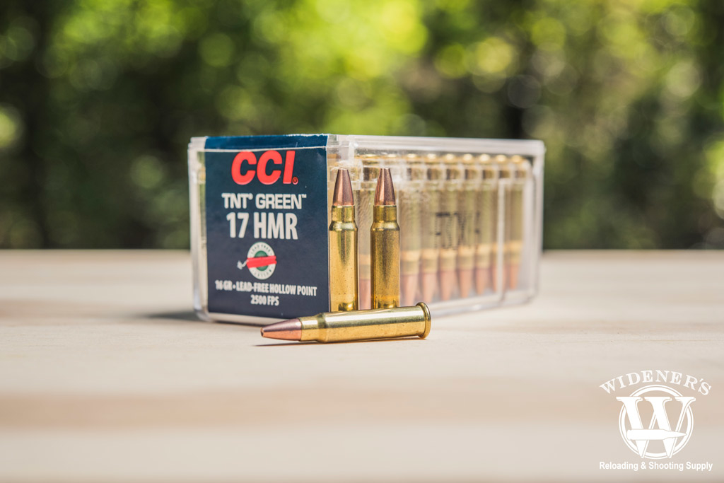 photo of CCI 17 HMR hollow point ammo outside
