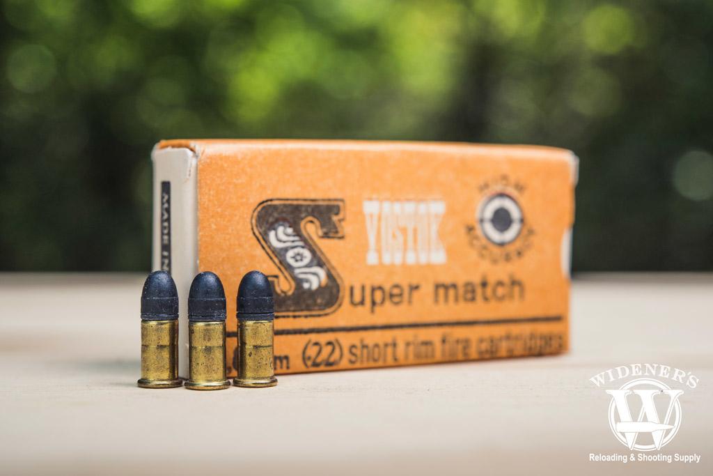 photo of yostoe super match 22 short ammo outside