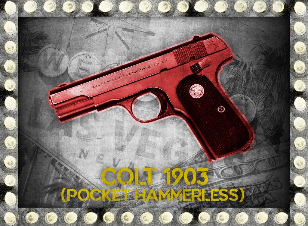 photo of colt 1903 pocket hammerless bugsy siegel gun