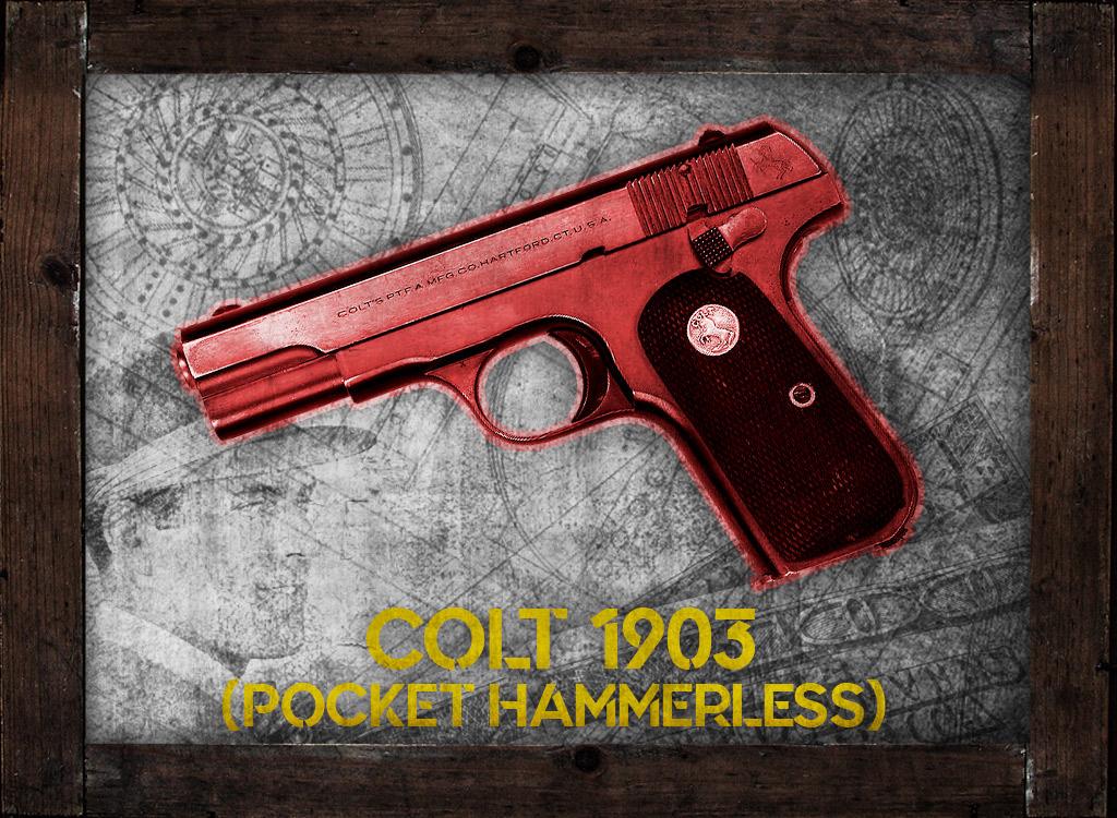 a photo of 32 acp colt 1903 pocket hammerless pretty boy floyd gangster guns
