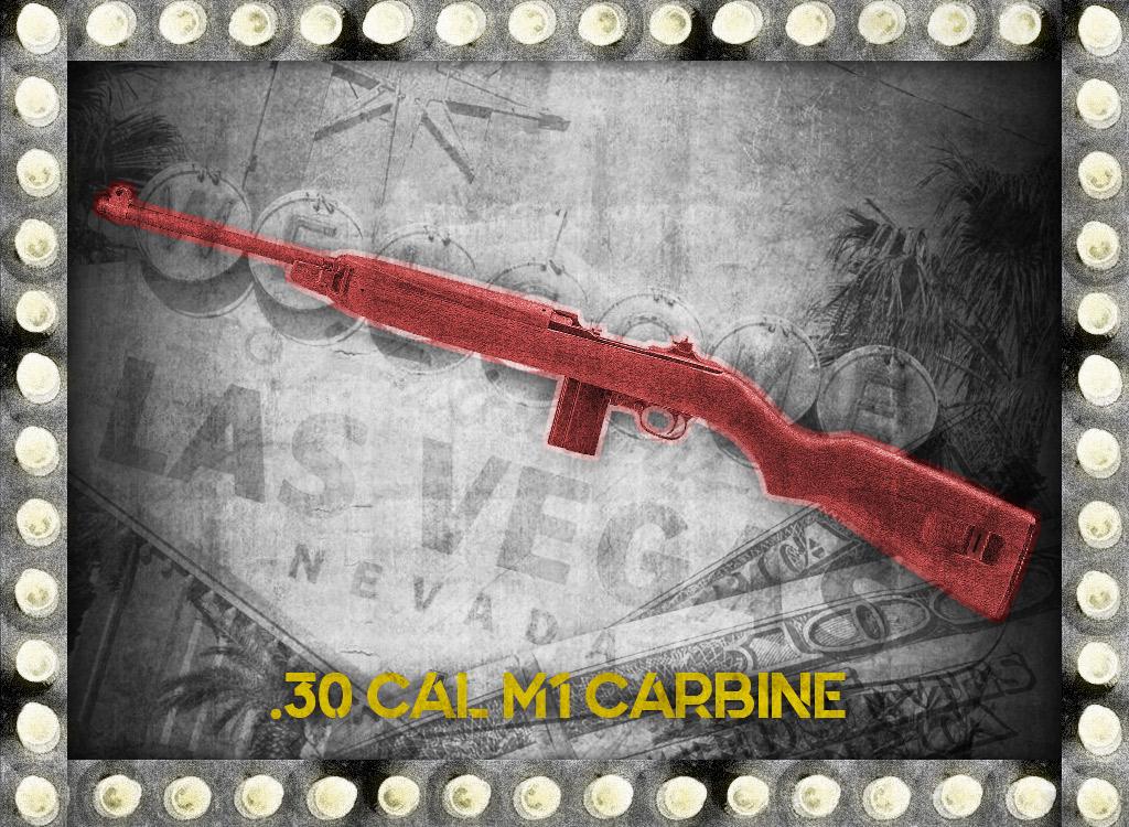 photo of 30 cal m1 carbine rifle bugsy siegel gun