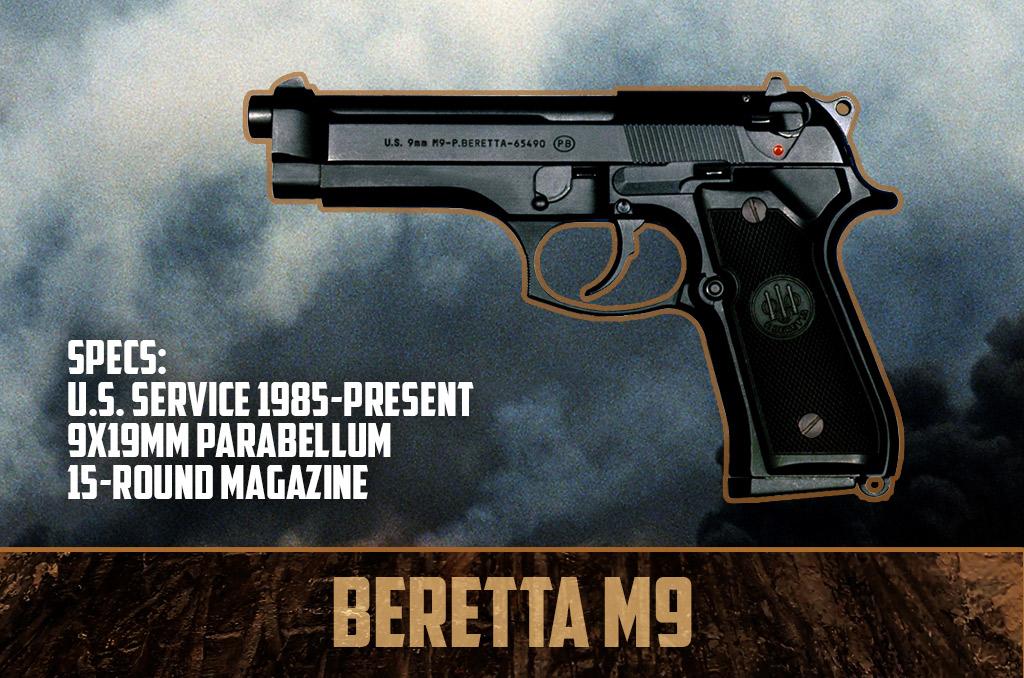 photo of Beretta M9 9mm pistol gulf war weapons