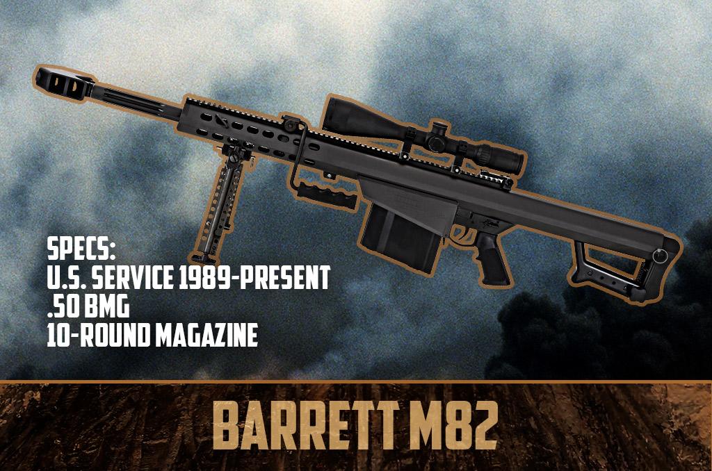photo of barrett m82 50 bmg sniper rifle gulf war weapons