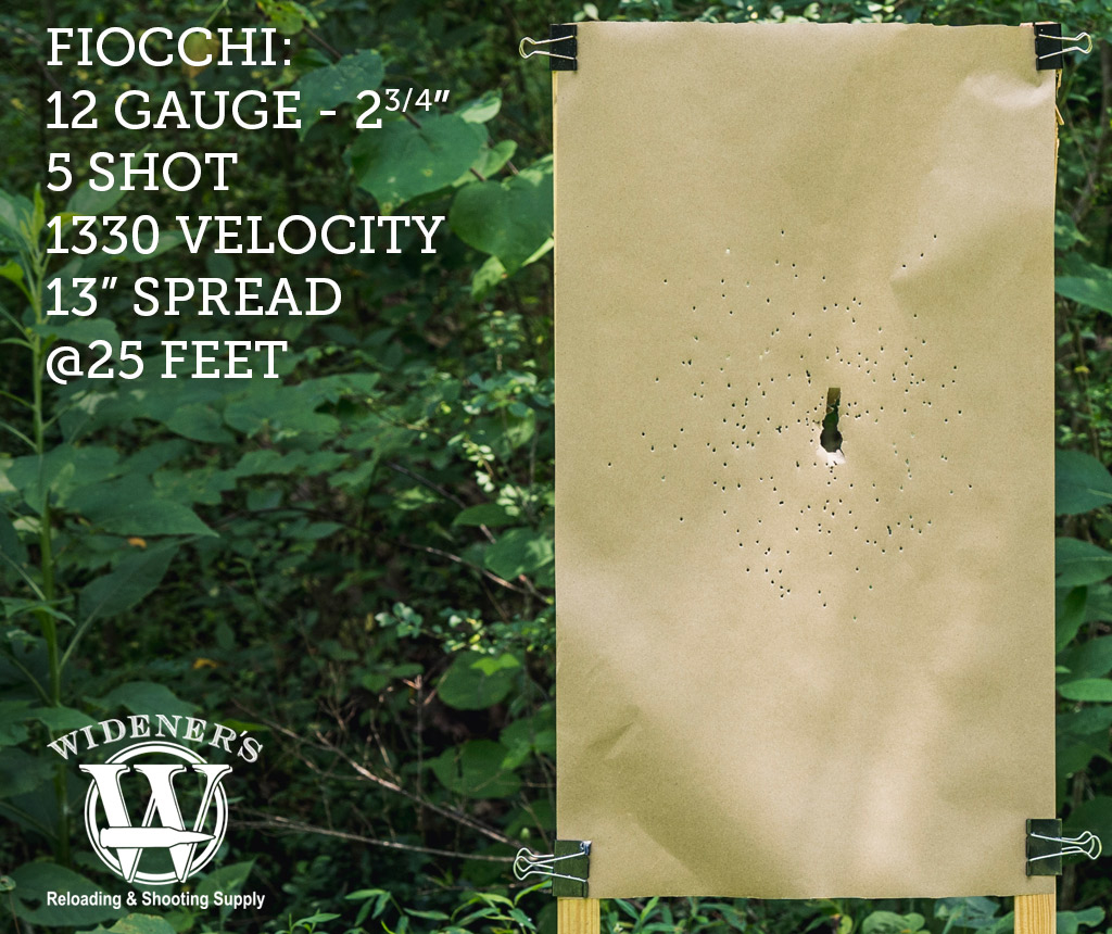 photo of 12 gauge shotgun target shot with fiocchi ammunition