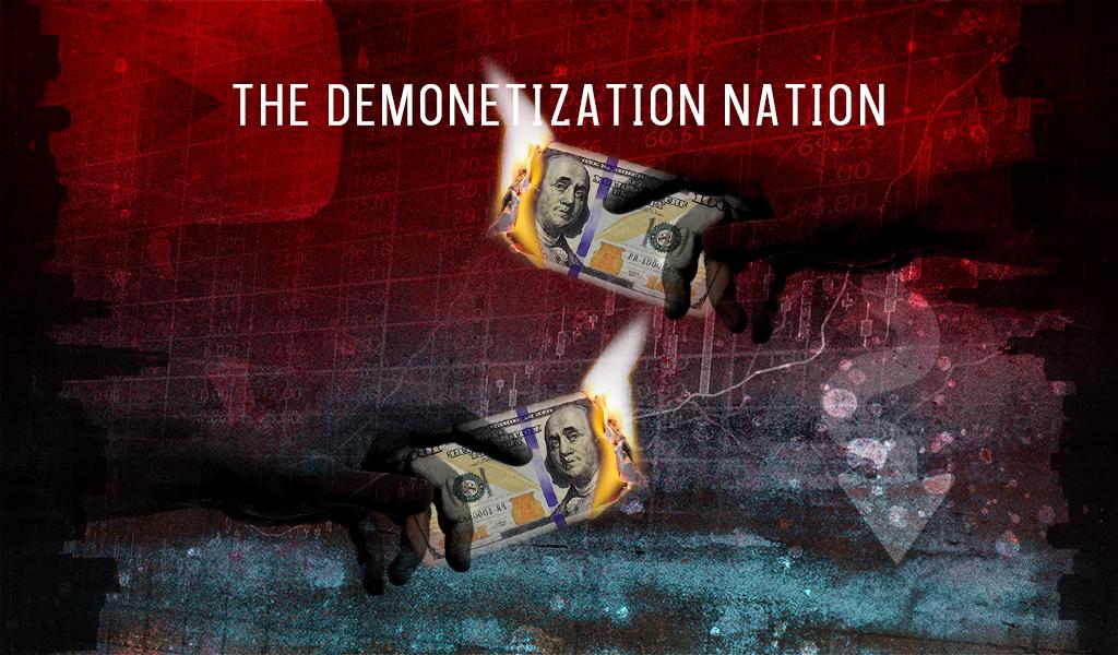 an illustration depicting the demonetization nation