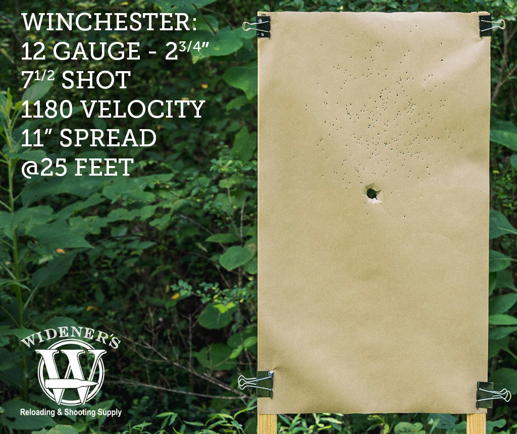 photo of 12 gauge shotgun target shot with winchester ammunition