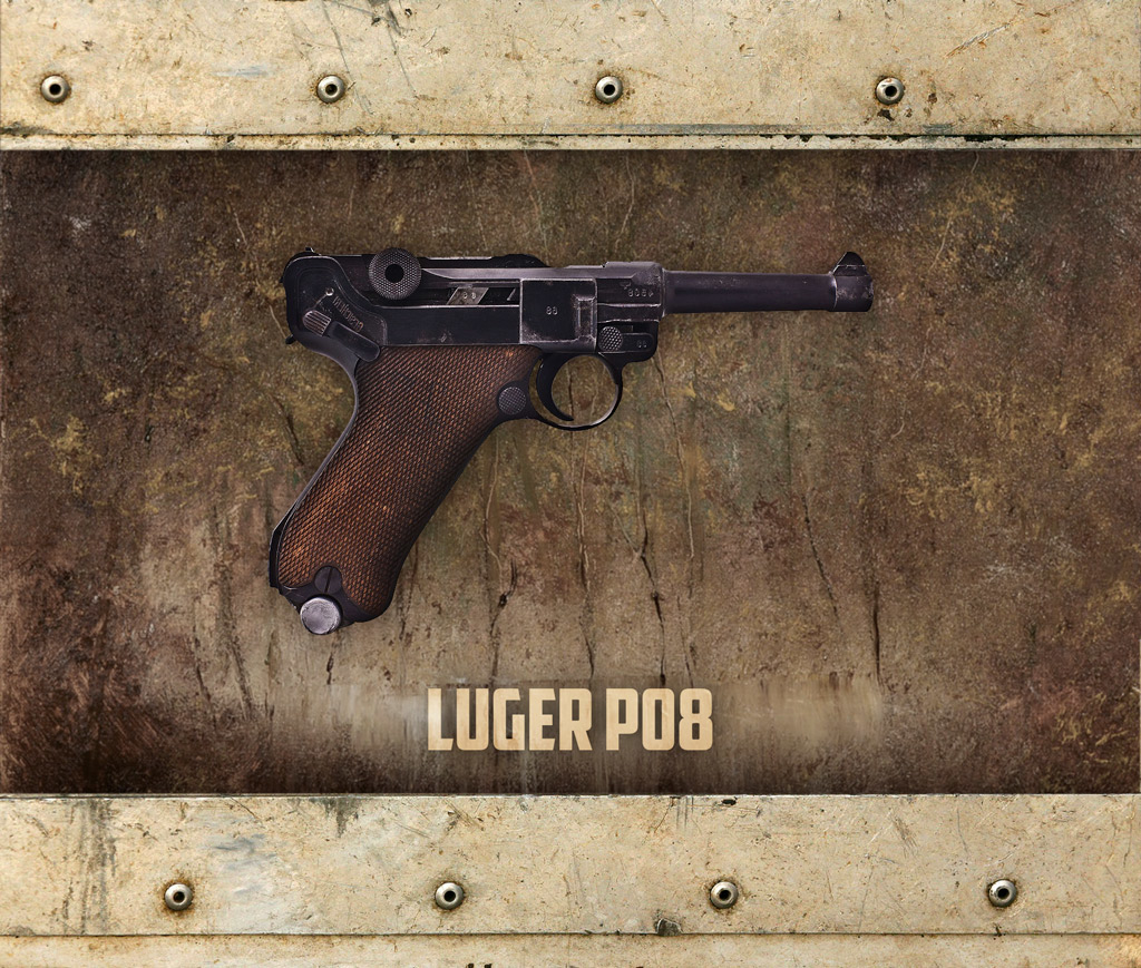 photo of the Luger P08 9mm pistol