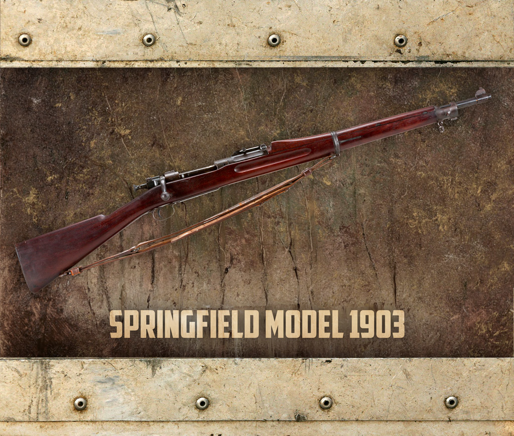 photo of the M1903 Springfield bolt-action rifle