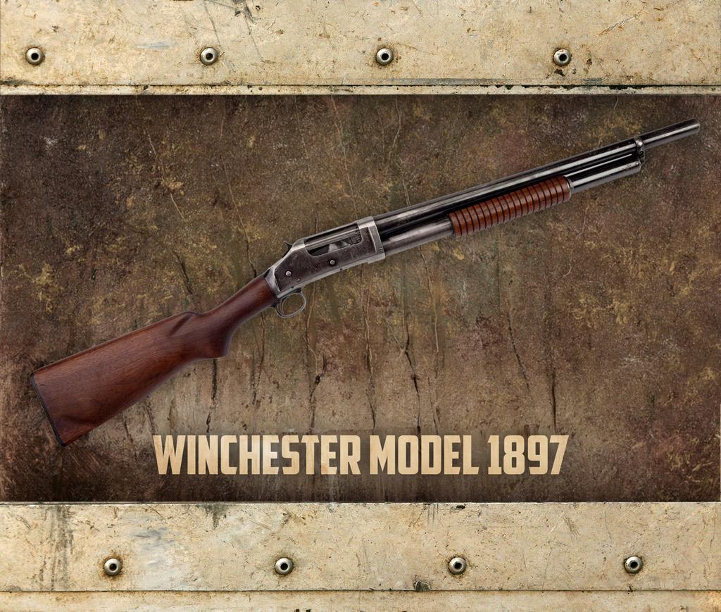 photo of the winchester 97 shotgun